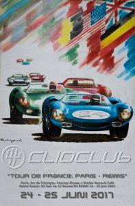 """Clioclub's """"Le colonne noir"""" brengt bezoek aan voormalig circuit Reims-Gueux."""